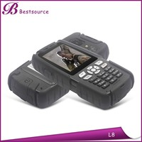 Waterproof walkie talkie 15km, mini key cell phone, large font phone for elder