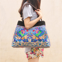 Handbag factory custom Chinese characteristics embroidery lady handbag
