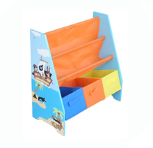 Wholesale Baby Wooden and Fabric Kids Book <strong>Shelf</strong>
