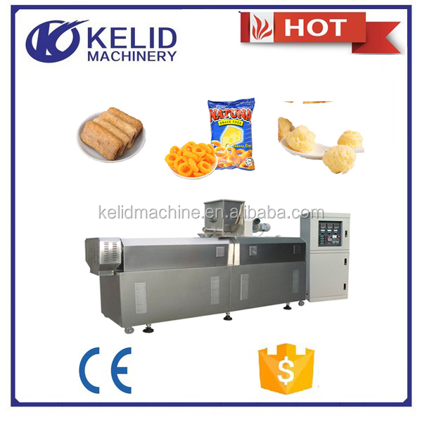 cereal extruded crunchy puffing chips snacks food machine