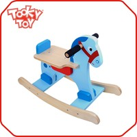 Walking ride on wooden routdoor spring rocking horse
