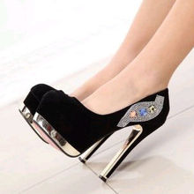 2014 new style Sweet fashion round toe paint women's leather shoes