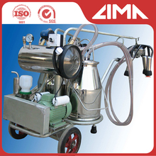 best quality vacuum pump portable bucket milker/cow milking machine high efficiency and low price