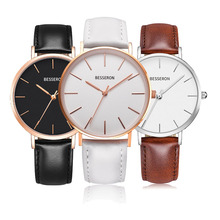 2019 luxury custom logo colors leather and stainless steel lady watch life waterproof simple women wrist watches