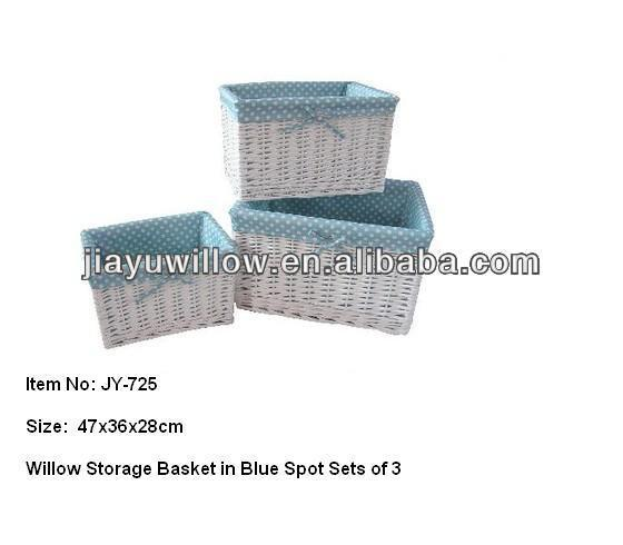 Wholesale natural lined wicker wheat storage basket