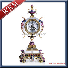 home decor metal enamel table clock