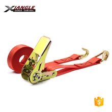 25mm <strong>Retractable</strong> ratchet tie down heavy duty tie straps lashing strap with hooks