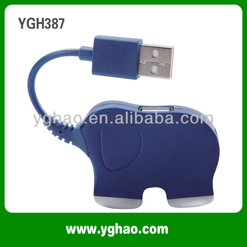 YGH387 Elephant Promotion Gifts Cute Animal USB Hubs