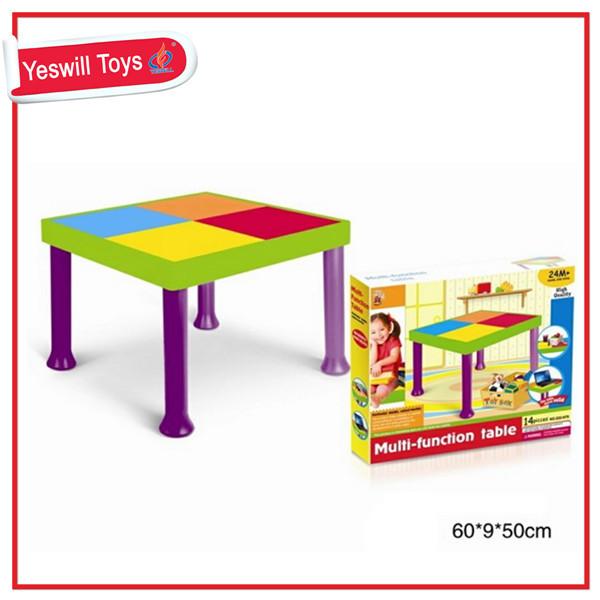 Plastic Kids Building Blocks Table