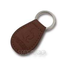 custom leather key chains make your own logo metal keyring
