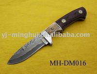 Hunting knife/damascus hunting knife/damascus steel knife