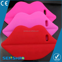 Cheap silicone lip Case For iphone 6plus 2 in 1Case ,3d silicone Case for mobie phone oem