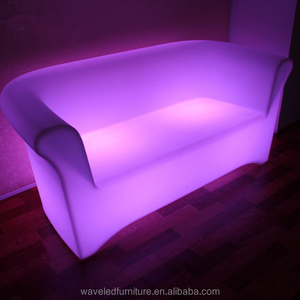 Modern design waterproof led light lounge furniture sofa for living room use