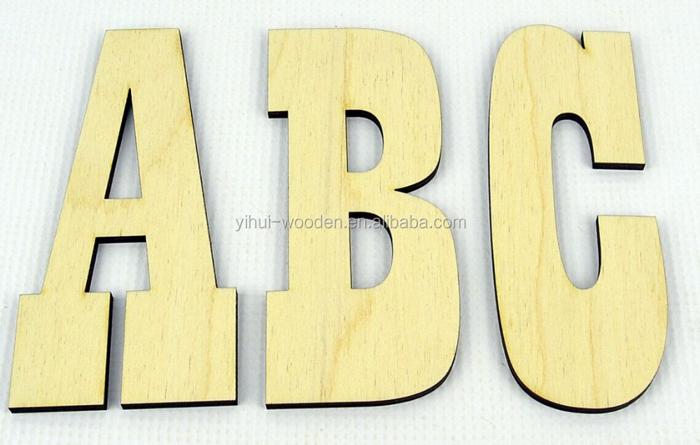 Plywood Letters wooden alphabet letters used for home decoration