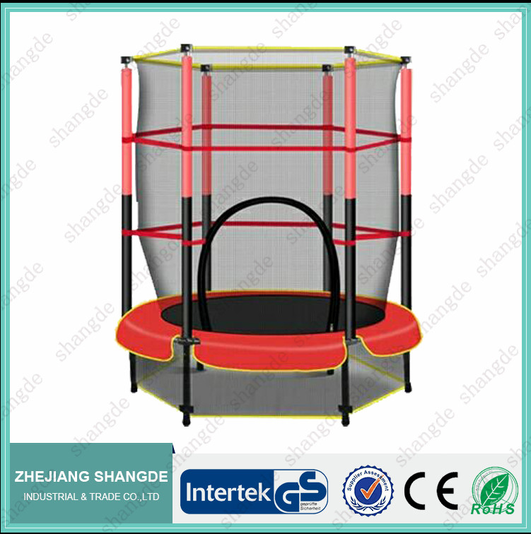 indoor outdoor 55inch mini bungee wholesale in ground trampoline gymnastics with safety enclosure