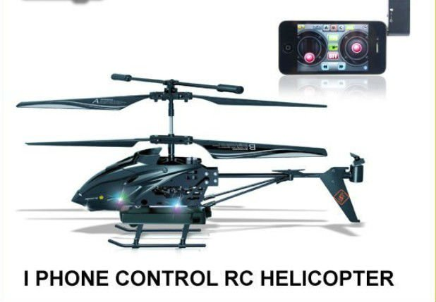 IPHONE, Android, Control full black modelling flying camera helicopter