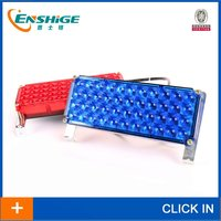 LED Dash/Deck/Visor Lights, Blue and Red Warning Strobe Flashing Lights Police light truck light in tail or head