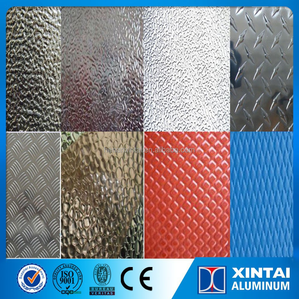 Aluminum embossed stucco sheet for corrugated roofing
