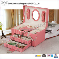 Factory Koren Style Beautiful Exquisite Fashion Durable Leather Jewelry Box