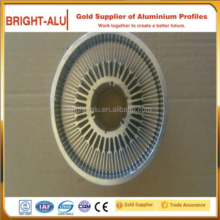 High quality radiator heat sink aluminum railing parts sigma profile with round shape