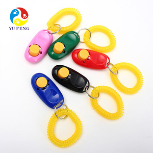 Customized Professional Pet Accessories Dog Training Clicker with Wrist Strap