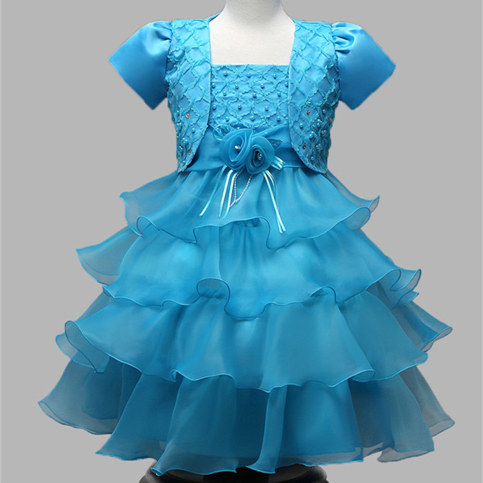 2017 factory price new design kids dress girl party wear western dress