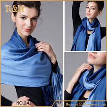 Professional factory supply different types 70% pashmina 30% silk scarf