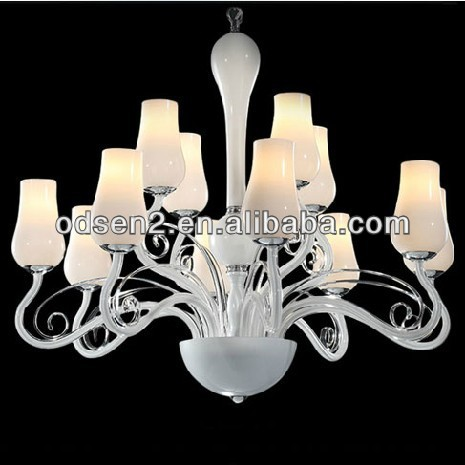 Modern large milk white tree branch pendant light for home or hotel made in China