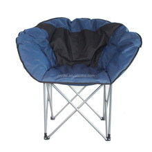 Portable Round camp outdoor half adult folding moon chair