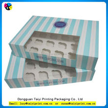 Low Price New Style macaron trays packaging cupcake packaging box