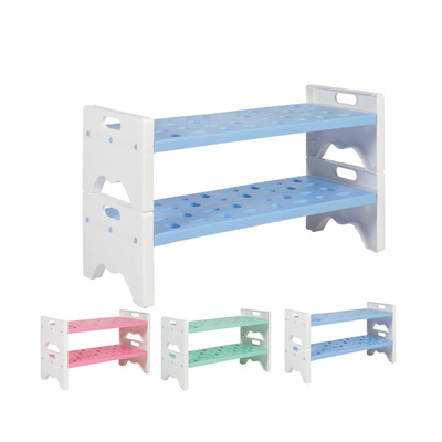Plastic Shoe Rack- 2 Layer