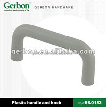 modern style high quality U shape plastic handle and konb for furniture