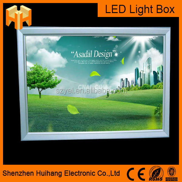 large size super thin advertising led light box outdoor