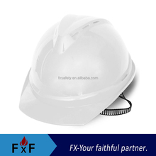 Breathable safety helmet with chin strap