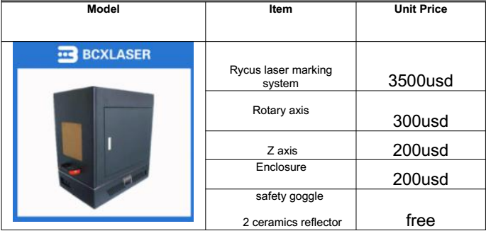 Rycus laser marking machine Enclosed system BCX-F20B