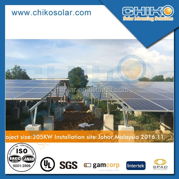 galvanized steel solar pv ground mounted double v structure frome Shanghai chiko