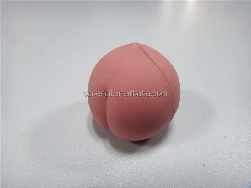 3D Shaped Eraser Fruit Series Peach Shaped For Kids Puzzle Toy