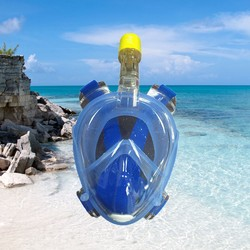 China Snorkel scuba tempered glass diving mask with big version