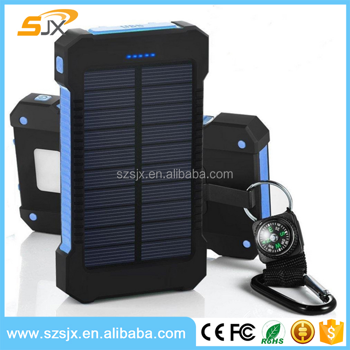 2016 Newest solar powerbank 8000mAh,solar battery charger for cellphone