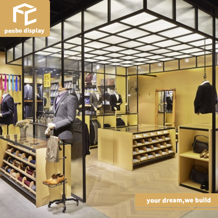 shopping mall floor <strong>retail</strong> garment store display for adult and child clothes
