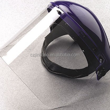 clear face visor sheet for visor for face mask with helm