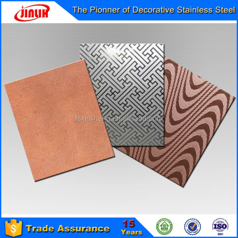 China Supplier Hot Sell Etching Finished Stainless Steel Interior Decoration Sheet