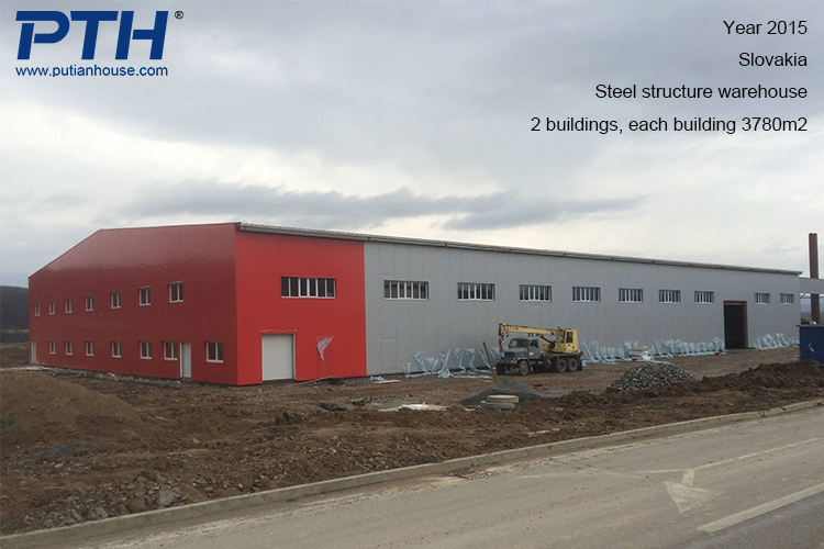 European prefabricated steel structure warehouse building