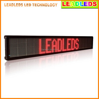 Single Red Tube Chip Color 16X128 Dot Matrix Led Panel Display Text with keyboard