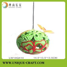 Hanging flower ball with light inside for wall decoration