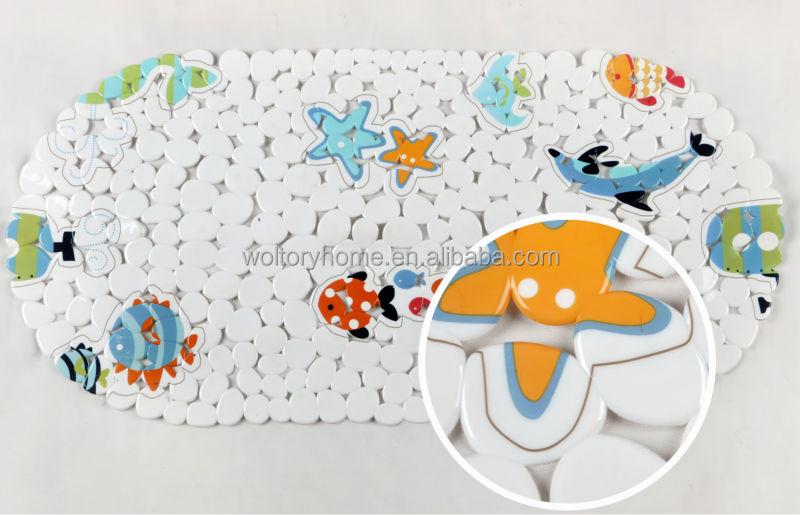 de forma ovalada antideslizante pvc baño alfombras esteras ... - Alfombra Bano Antideslizante Infantil