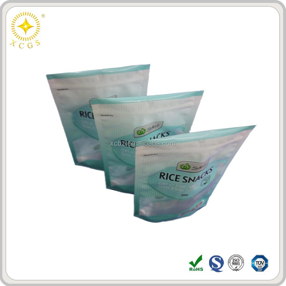 Food Decorative Ziplock Bag With Full Color Printing For Food Powder