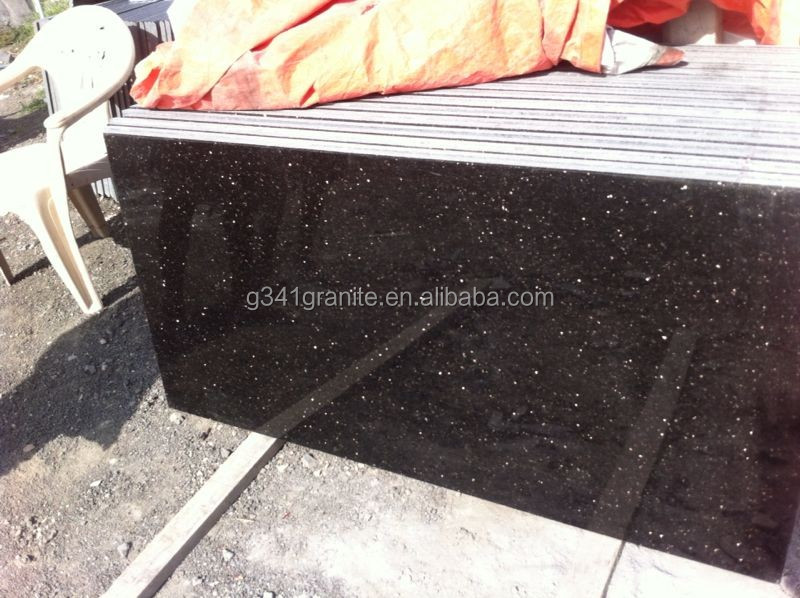 cheap black galaxy 24 x 24 granite tile /granite flooring design