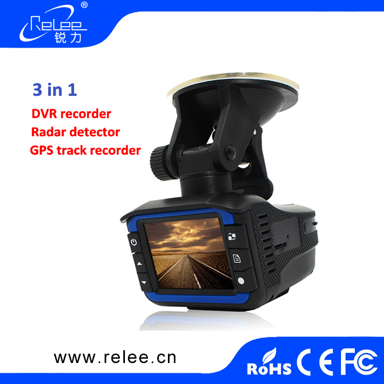 Russian voice Anti Speed Car Radar Detector DVR 2.0inch LCD 1080P 3 in 1 GPS Car Camera Radar Detector