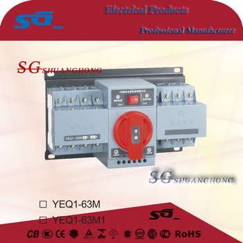 YEQ1-63M 1A~63A AC Automatic Change over Switch/CB class ATS